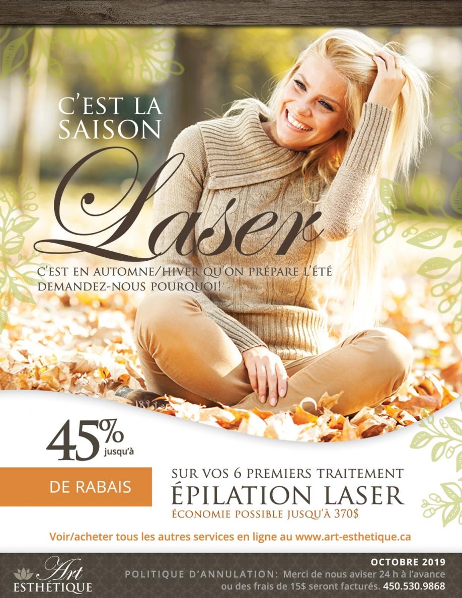promotion épilation laser automne 2019 - st-jerome